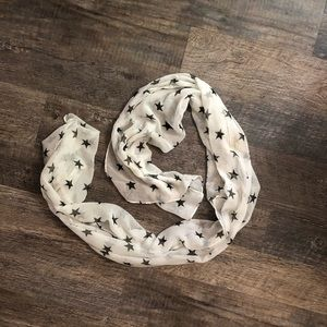 Sheer stars fashion scarf